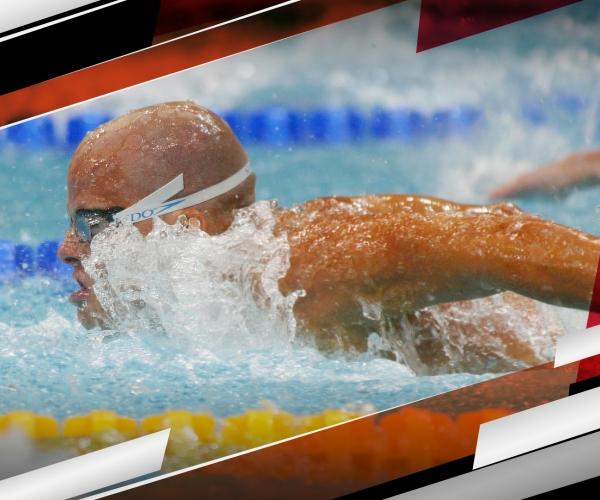 Andrew Haley swimming the butterfly at the Paralympic Games